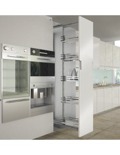 Sige 400mm Tall Larder Pull Out Plus Silver