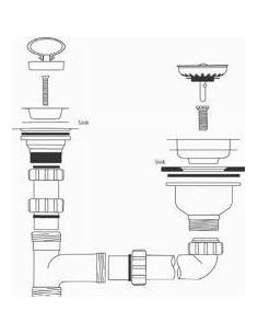 Rangemaster Ceramic Waste Kit 1.5 WHKIT04 Chrome Or Brass