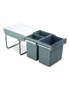 Romagna Kitchen Waste Bin 400mm 31L Pull Out Sink Base