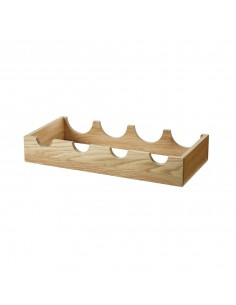 Oak Bottle Rack Larder, Pantry Accessory