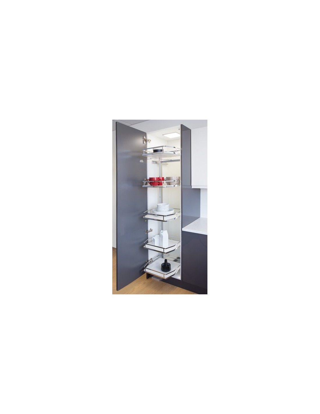 Pull out larder system for 300mm wide cabinets only 185 for Kitchen cabinets 500mm