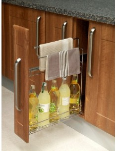 150mm Base Pullout Towel Rail Storage Unit