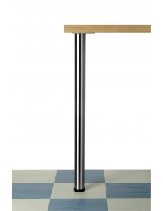 Breakfast/table Support Leg Brushed Nickel 710mm High