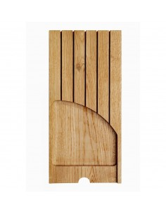Oak Knife Holder Insert For Wood-Line Oak Cutlery Trays