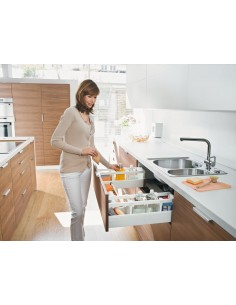 Blum Antaro Under Sink Drawer White 450mm Depth Softclose