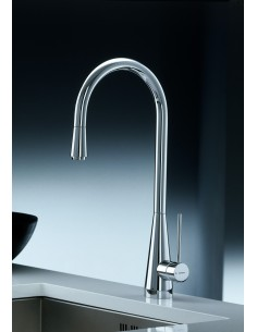 Newform Y-CON Monobloc Kitchen Tap Side Lever Chrome/Brushed