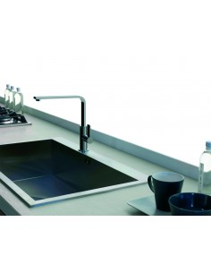 Gessi X Sense Kitchen Tap 17015 Chrome/Brushed Nickel