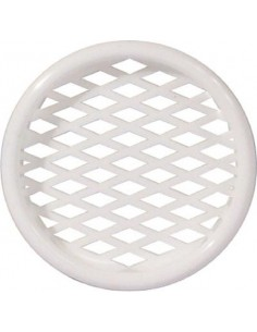 50mm Round Ventilation Grill Press Fitting, Recess Mount White