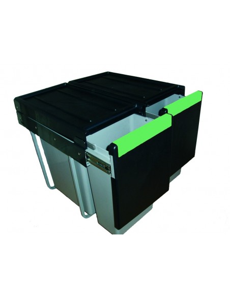 Linea Pull Out Waste Bin 600mm Unit 60 Litres Hinged Doors