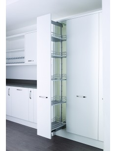 400mm Kessebohmer Arena Solid Basket Pull Out Larder In Frame Kitchens