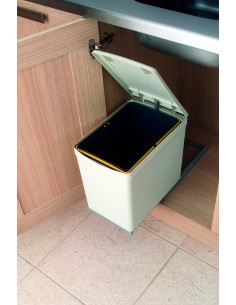 Romagna Kitchen Waste Bin Pull Out 300mm Units Or Larger 16 Litres