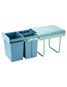 Benni Compact Recycling Waste Bin 400mm Sink Base Bin