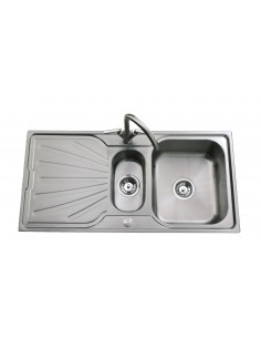 Clearwater Deep Blue Stainless Steel Sink 1.5 Bowl DB15