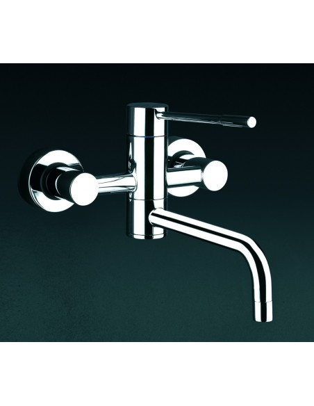 Gessi Oxygen 13175 Wall Mounted Mixer Tap Top Lever Chrome/Brushed