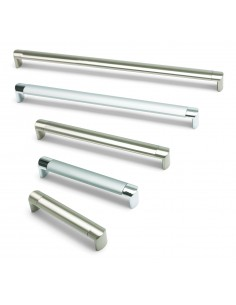 Oval Tube D Bar Handles 24mm Thick Brushed