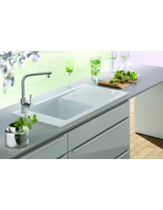 Villeroy & Boch Timeline 1.0 Bowl Kitchen Sink, Ceramic White