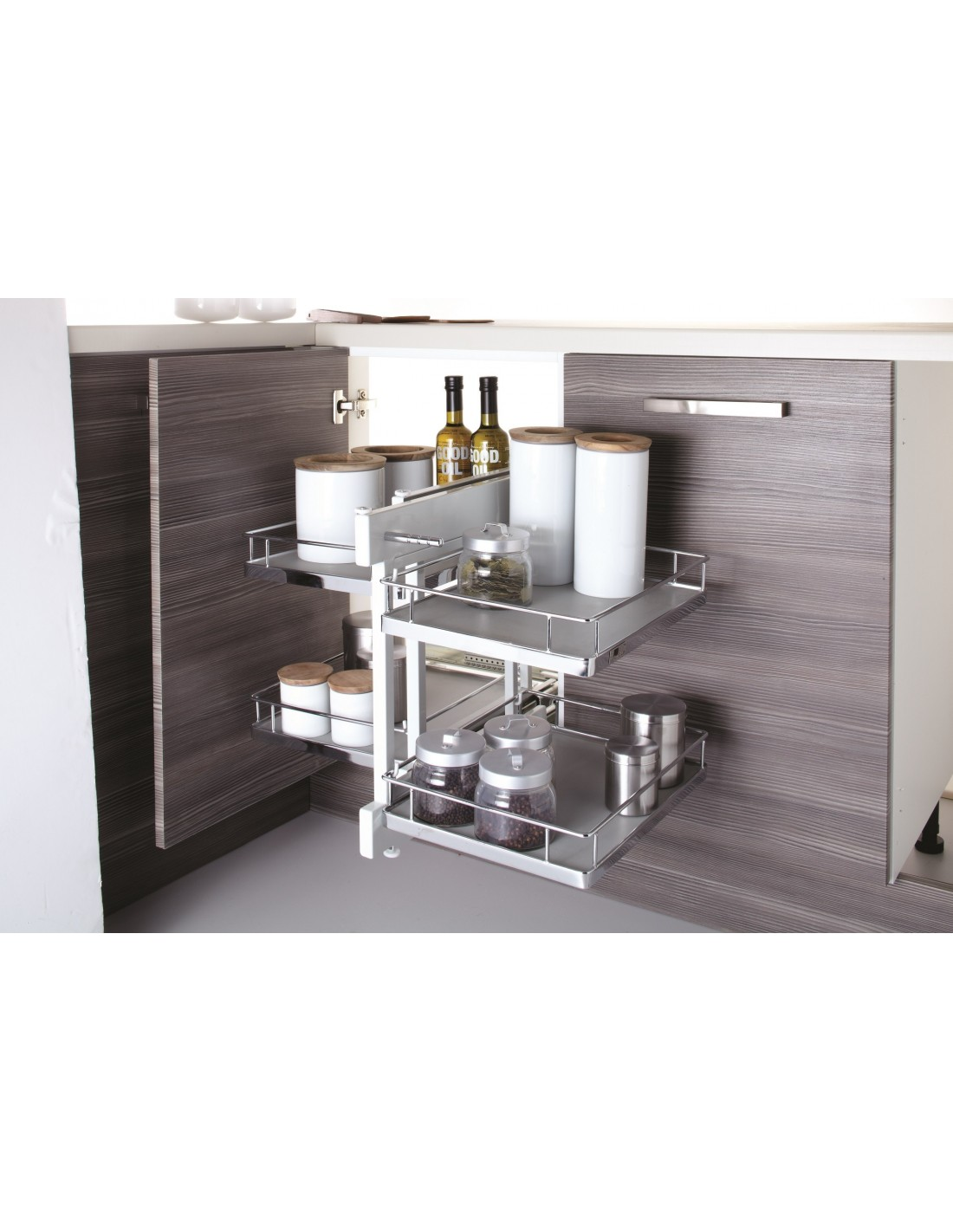 kitchen corner storage unit new innostor pull out corner shelving suits 800mm corner 6624