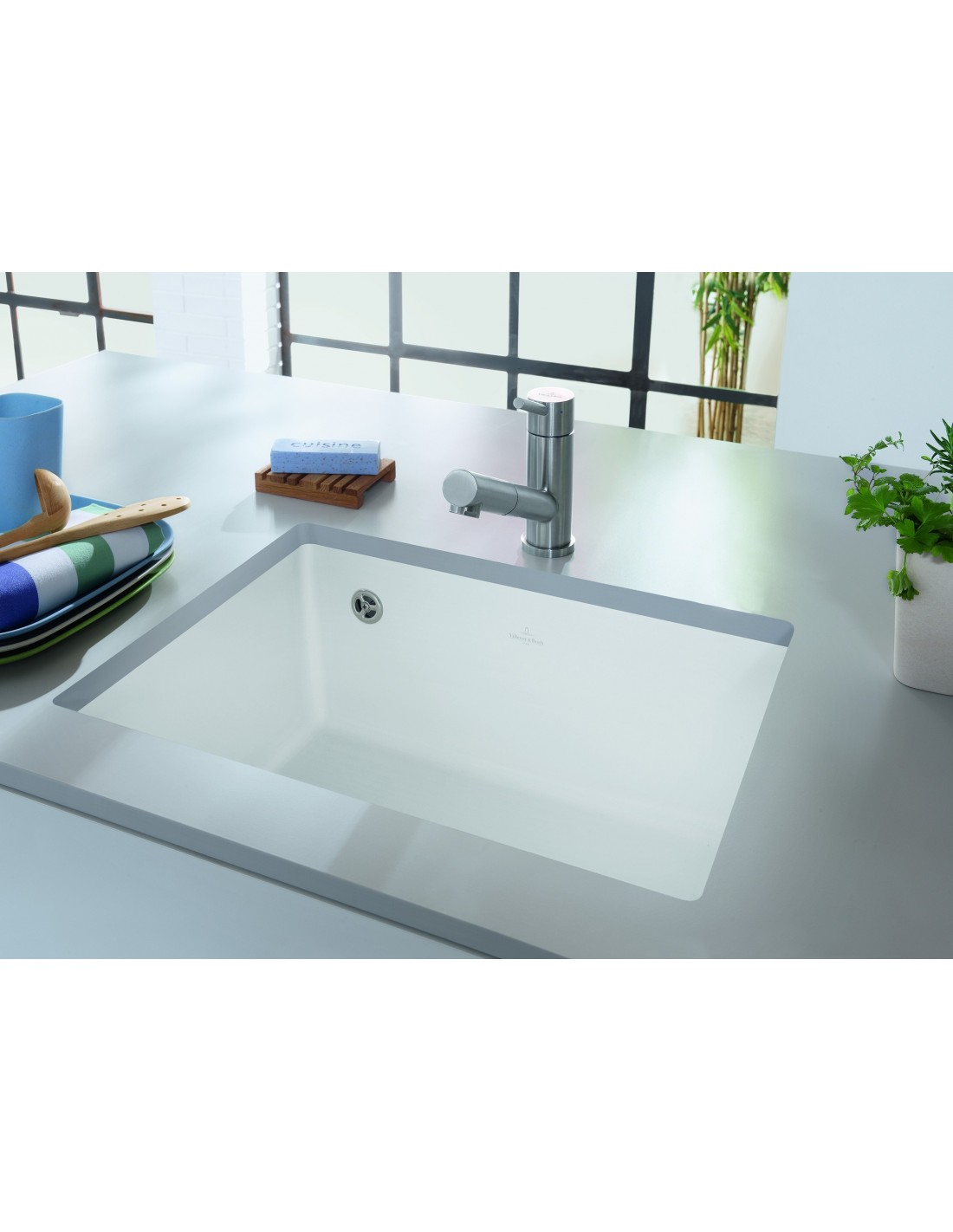 villeroy boch subway 60su single bowl undermount sink 331000. Black Bedroom Furniture Sets. Home Design Ideas