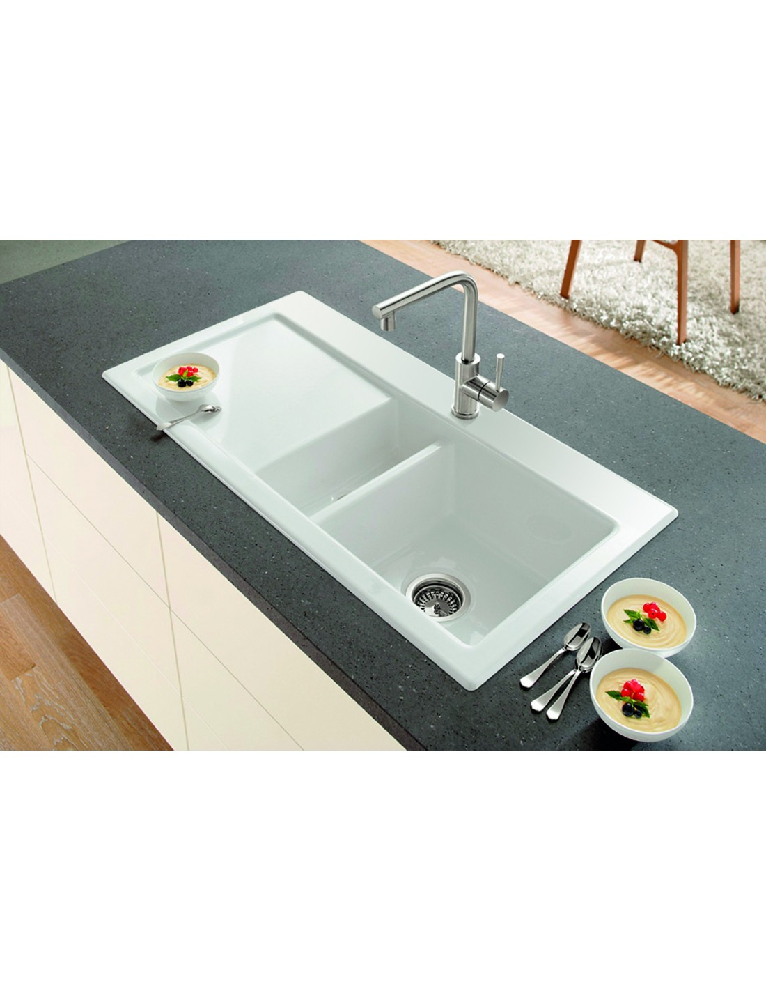ceramic kitchen sink with drainer villeroy amp boch subway 60xr only 163 364 ceramic kitchen sink 8090
