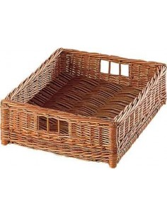 Natural Wicker Storage Basket Suits Cabinets Width 400mm