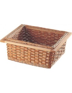 Natural Wicker Storage Basket Four Handles 400mm