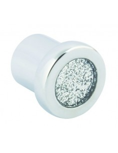 Glitter Door Knobs Chrome 24mm Diameter