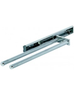 Aluminium Towel Rail Telescopic Pull Out Double Arm Silver