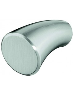 Arco Modern Knob Satin Nickel/Polished Chrome Finish 20mm Dia