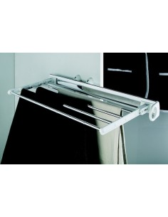 Pull-Out Clothes Rail Aluminium Rail Aluminium Black Rack