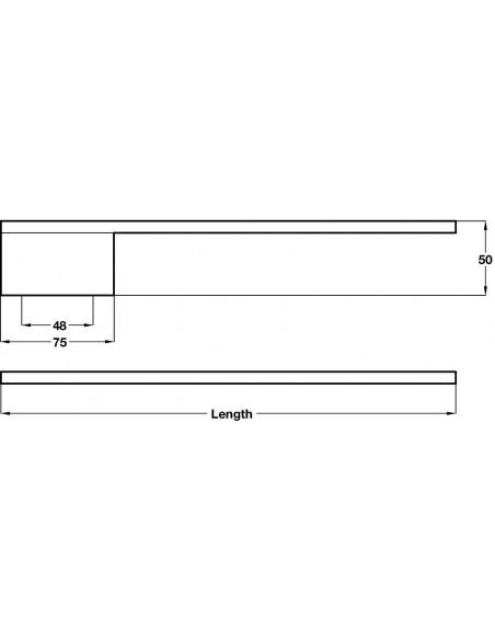 Towel Rail Arm 380mm