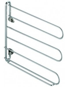Wardrobe 3-Tier Swing Out Tie Rack, Scarfs, Belt Storage Rail