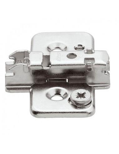 Blum 0mm Criciform Clip Mounting Plate Steel + Screws