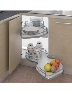 Nuvola Corner Pull Out Shelving Units To Suit 1000mm Corner Base