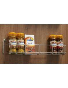 400mm Kitchen Door Mounted Spice Rack Single Tier
