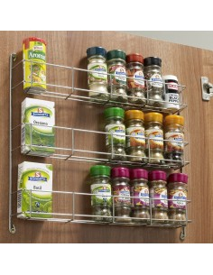 WWSR403 400mm Door Mount 3 Tier Spice Storage Rack