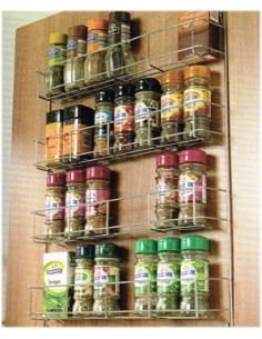 WWSR Door Mount 4 Tier Spice Storage Rack 388mm Width