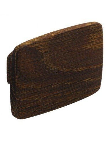 Quatro Rectangular Wooden Oak Door Knob