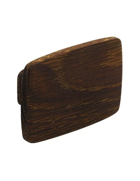 Modern Wooden Oak Door Knob 74 x 52mm Rectangular