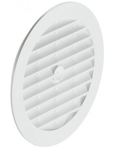 Round Ventilation Grill White 123mm Recess Mounting