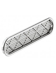 Ventilation Grill 175x40mm Recess Mount Chrome Plated