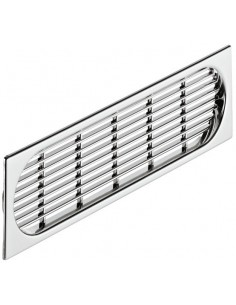Plinth Ventilation Grill 225x64mm Recess Mount Chrome