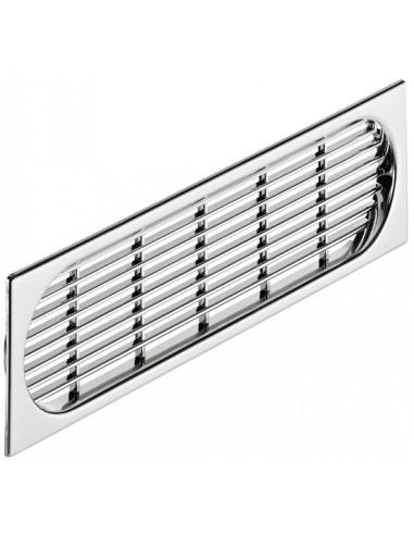 Plinth Ventilation Grill 225x64mm Recess Mount Chrome