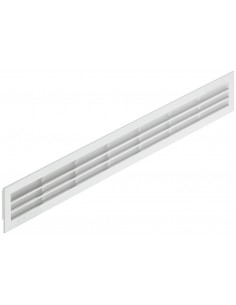 Ventilation Grill 512x60mm Recess Mount White Plastic