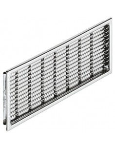 Ventilation Grill 230x68mm Recess Mount Chrome Finish