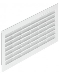 Ventilation Grill 299x120mm Recess Mount White Plastic