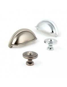 Ariel Kitchen Cup & Knob Door Handles, Pewter Effect