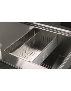 CSC15 Smooth Stainless Steel Modern Square Sink Colander-Strainer