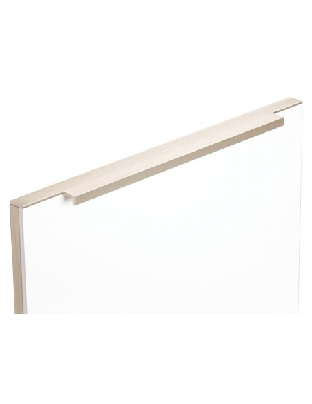 Flat Door Profile Handle Top Edge Fix Stainless Steel Effect, 13 Lengths