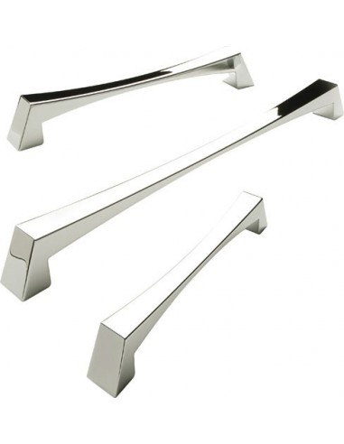 Caleido Door Handles Modern Polished Chrome / Satin Nickel Four Sizes