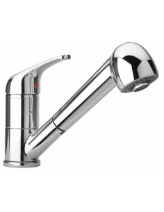 Clearwater Creta Kitchen Spray Tap Chrome/Brushed Single Lever Mixer 27113